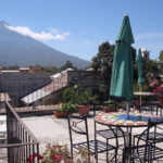 hotel with volcano views antigua guatemala